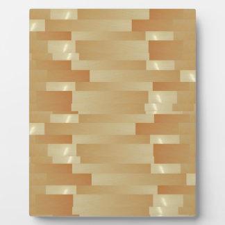 サテンの絹の金ストリップ-影Art101 フォトプラーク