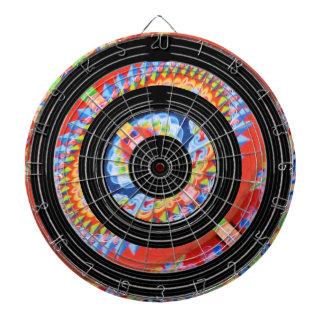 サテンの絹の黒い車輪の拡大された宝石のプリント ダーツボード