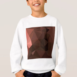 サドルのブラウンの抽象的で低い多角形の背景 スウェットシャツ