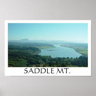 サドルの山および谷 ポスター