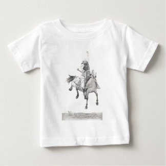 サドルのBronc ベビーTシャツ