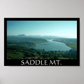 サドル山の黒 ポスター