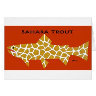 サハラ砂漠のマス グリーティングカード