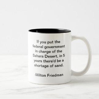 サハラ砂漠砂漠および政府 ツートーンマグカップ