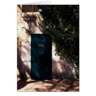 サバンナの庭のドアのメッセージカード カード