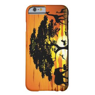 サバンナの日没のiPhone6ケースの野生動物 iPhone 6 ベアリーゼアケース
