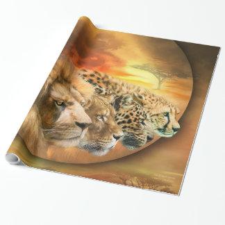 サバンナの精神の芸術Giftwrap ラッピングペーパー