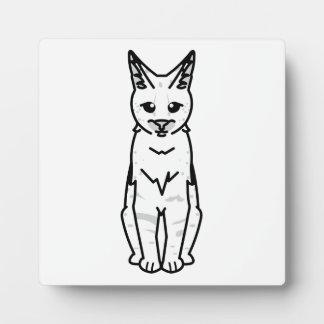 サバンナ猫の漫画 フォトプラーク