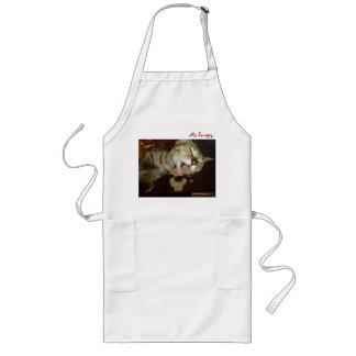 サバンナ猫の食べ物のエプロン ロングエプロン