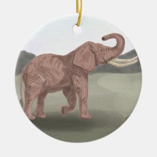 サバンナ象 セラミックオーナメント