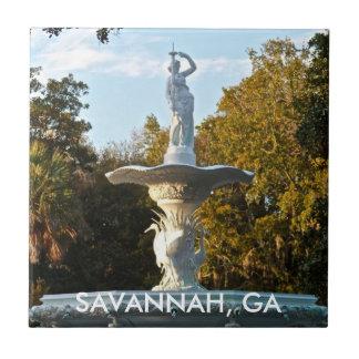 サバンナGAジョージア| Forsyth公園の噴水 タイル