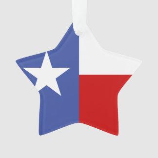サファイアのテキサス州の青および赤い旗 オーナメント