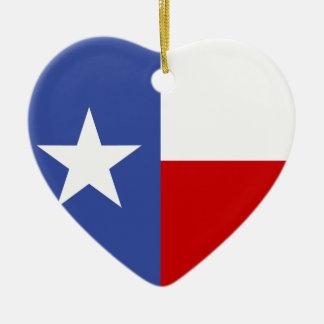 サファイアのテキサス州の青および赤い旗 セラミックオーナメント