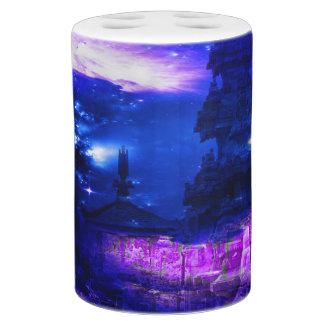 サファイアのバリ島の紫色の夢 バスセット