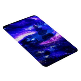 サファイアのバリ島の紫色の夢 マグネット