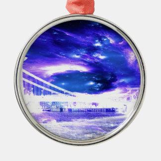 サファイアのブダペストの紫色の夢 メタルオーナメント