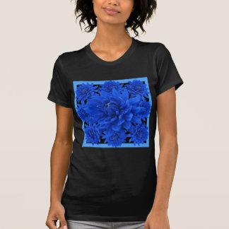 サファイアの青いダリアパターンギフト Tシャツ