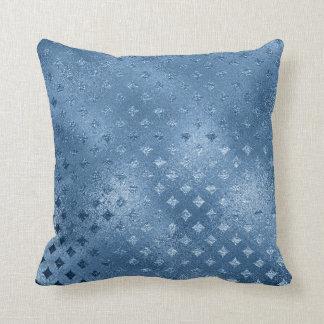 サファイアの青い天のダイヤモンドによって切られる青いガラス クッション
