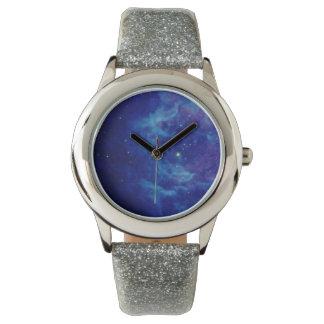 サファイアの青い星雲の腕時計 ウオッチ