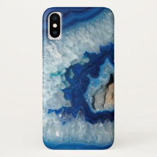 サファイアの青い瑪瑙Geode iPhone X ケース