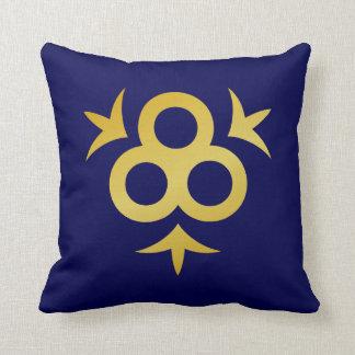 サファイアの青および金ゴールドの枕 クッション