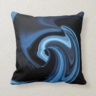 サファイアの青の抽象芸術のハートの装飾用クッション クッション