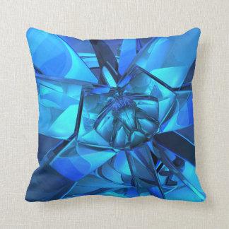 サファイアの青の抽象芸術の枕 クッション