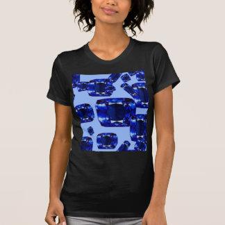 サファイアの9月青いBirthstonesのデザイン Tシャツ