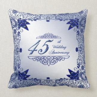サファイア第45の結婚記念日の装飾用クッション クッション