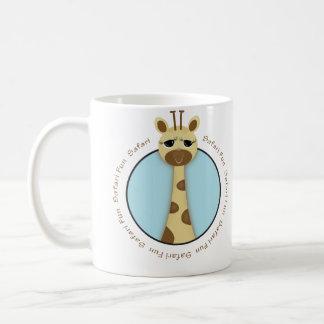 サファリのキリンのマグ コーヒーマグカップ