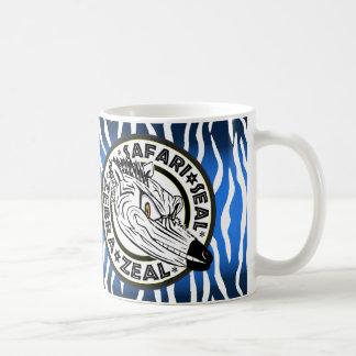 サファリのシールのシマウマ コーヒーマグカップ