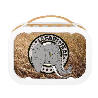 サファリのシール象の版 ランチボックス