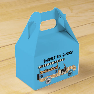 サファリのテーマ箱(青い) フェイバーボックス