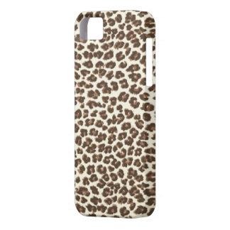 サファリのヒョウはiPhone 5の箱に斑点を付けます iPhone SE/5/5s ケース