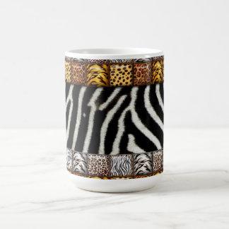サファリのプリント コーヒーマグカップ
