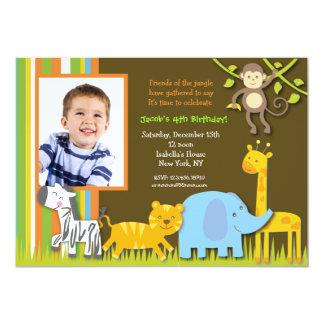 サファリの写真の誕生日の招待状 カード