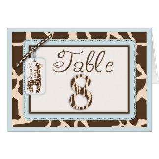 サファリの男の子のテーブルカード8 カード