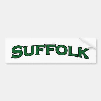 サフォークのヴァージニアによってアーチ形にされる文字のロゴ バンパーステッカー