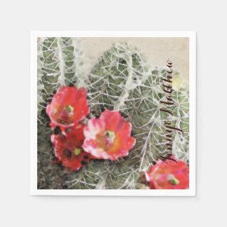 サボテンによってはアートワークが開花します スタンダードカクテルナプキン