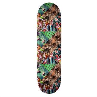サボテンのコラージュのスケートボード スケートボード