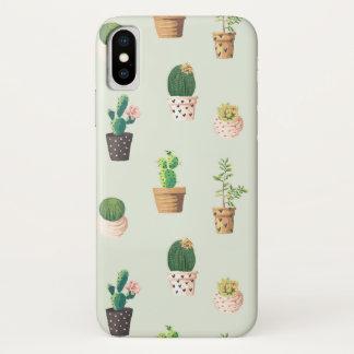 サボテンのコレクションのサボテンの電話箱 iPhone X ケース
