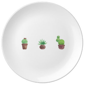 サボテンのデザインの磁器皿 磁器プレート