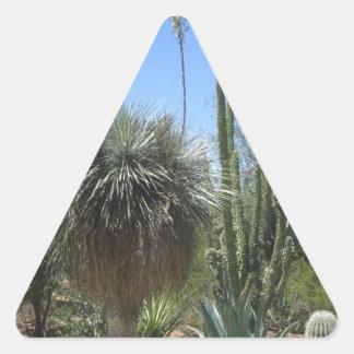 サボテンの庭 三角形シール