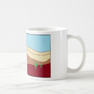 サボテンの砂漠の眺望 コーヒーマグカップ