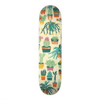 サボテンの花模様のスケートボードのデッキ 21.6CM オールドスクールスケートボードデッキ