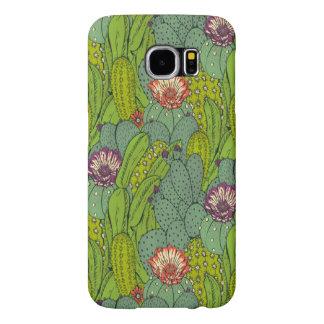 サボテンの花模様のSamsungの銀河系S6の箱 Samsung Galaxy S6 ケース