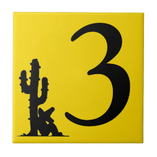 サボテンの黄色の熱い第3 3タイルによる昼寝 タイル