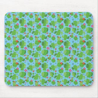 サボテン私外側の(青い) -平らなマウスパッド マウスパッド