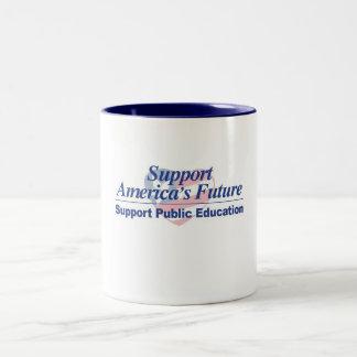 サポートアメリカの未来公衆の教育のマグ ツートーンマグカップ