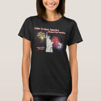 サポートアリゾナのSB 1070年-アメリカを救うために結合して下さい Tシャツ